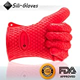 Silicon Gloves ♦ #1 to Protect your Hands when Handling Hot Items ♦ Perfect for Cooking, Grilling, Baking, Camping, Pickling, or Potholder ♦ Soft in your Hands but Built to Withstand Extremes Temperatures ♦ Can be used also to Hold Cold Items ♦