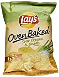 Baked! Lay's Sour Cream & Onion Flavored Potato Crisps - (8 Pack - 1.125 Oz.) JUMBO SNACK SIZE!!!!!!