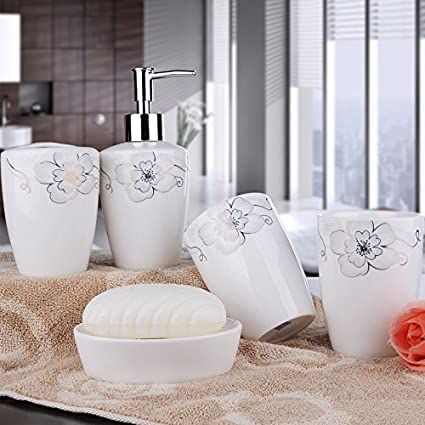 Stile country in ceramica 5PCS accessori bagno dispenser di sapone ...