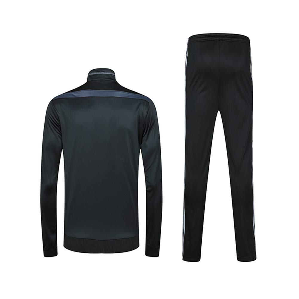 HS-HWH316 Ronaldo Football Team Breathable Tracksuit Set Gym Jogging Bottoms Casual Full Zip Joggers Sports Fitness Sweatsuit with Pockets Fans Clothes Gift,24110~125CM