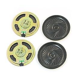 Electronic Toy Metal Case Internal Magnet Speaker 0.5W 8 Ohm 45mm 4Pcs
