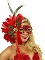 Stunning Spanish Peacock Feather Mask