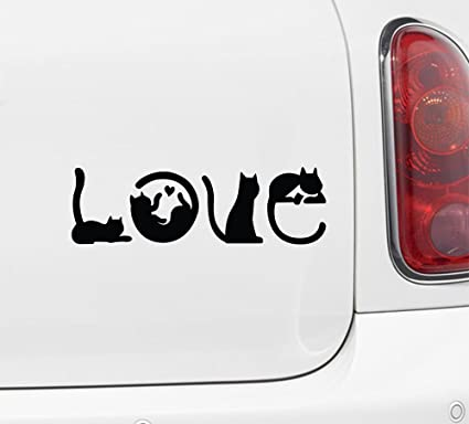 Amazon Com Yadda Yadda Design Co Cats Spell Love Car Vinyl Decal