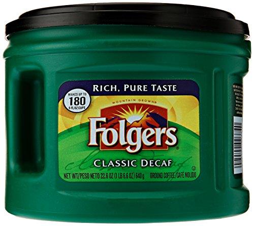 Folgers Classic Decaf Ground Coffee, 22.6 oz
