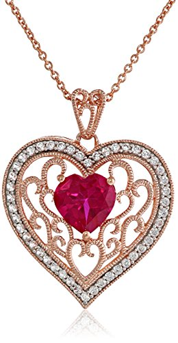 14K-Rose-Gold-over-Sterling-Silver-Created-Ruby-with-Created-White-Sapphire-Filigree-Heart-Pendant-Necklace-18