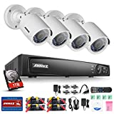 Annke 1080P HD-TVI Security DVR System with 1TB HDD and (4) 2.0MP 1920tvl Outdoor Fixed Cameras with IP66 Weatherproof Matel Housing
