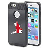 Apple iPhone 5 5s Shockproof Impact Hard Case Cover England English Flag (Black )