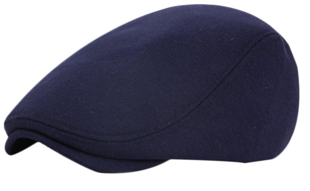 Casquette BIGBOBA à porter au printemps et en automne - Béret unisexe - Idéal pour l'extérieur, Coton, bleu foncé, 55-60 cm