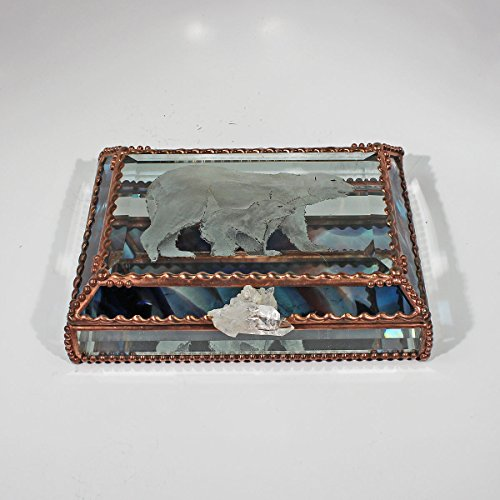 Polar Bear, Jewelry Box by Glass Treasure Box