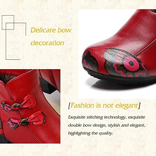 Donna Stivaletti Inverno Etnico E Boots Stile Medioevali Da Martin Pelle Marmo Autunno In Invecchiata Blacka Con p0aw6z