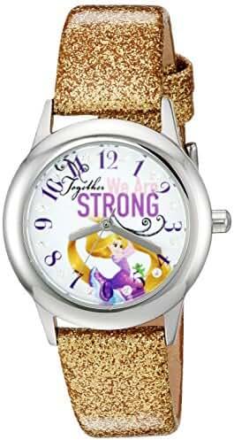 Disney The Princess & The Frog Kids' W002963 Rapunzel Analog Display Analog Quartz Gold Watch