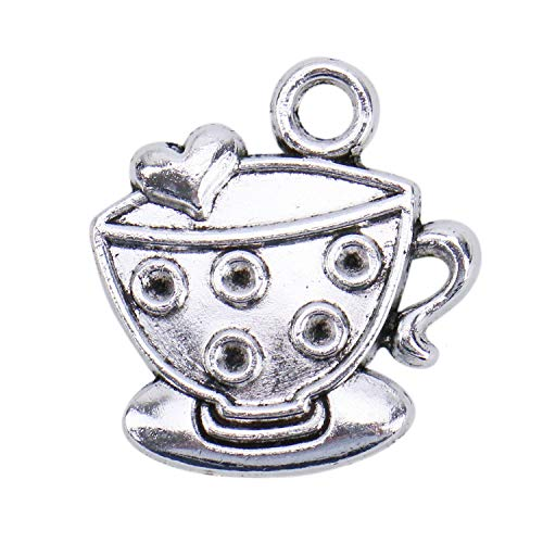 - JETEHO 50pcs Cup Charms Pendants for Jewelry Making Bracelets Antique Silver