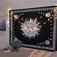 Wall Tapestry Bedroom,Mandala Tapestry Witchcraft Wall Hanging Boho-Decor Astrology Sun Blanket Hippie Bedroom Living…