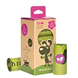 Earth Rated 120-Count Dog Waste Bags, Biodegradable Lavender-Scented Pooh Bags, 8 Refill Rolls
