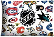 16x24inch 40x60cm Body pillow shell cases Polyester / Cotton Beautiful Decorate NHL ice hockey logo