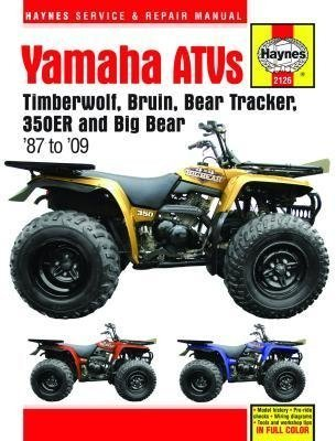amazon com haynes atv manual yamaha m2126 automotive rh amazon com 1999 Yamaha Big Bear 400 Yamaha Big Bear 400