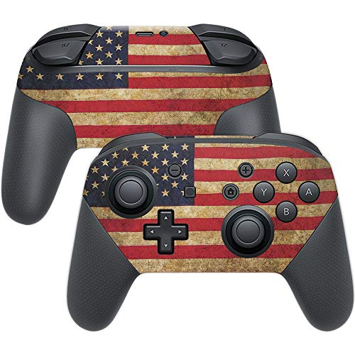 MightySkins Skin Compatible with Nintendo Switch Pro Controller - Vintage Flag | Protective, Durable, and Unique Vinyl Decal wrap Cover | Easy to Apply, Remove, and Change Styles | Made in The USA
