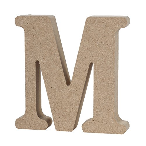 WINOMO DIY Wooden Alphabet Letters Plaque Wall Numbers Home Wedding Party Decoration -M