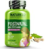 NATURELO Post Natal Multivitamin - Whole Food Postnatal Supplement for Breastfeeding Women - Organic Herbs to Boost Milk Supply - Vitamin D, Folate, Calcium - Best for Nursing Mother & Baby - 180 Caps