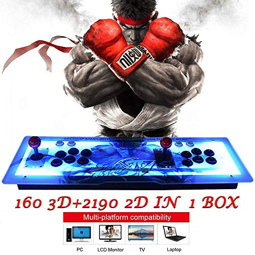 MOSTOP Arcade Game Console 2350 Games in 1 Pandora's Box 1080P 3D & 2D Games 2 Players Arcade Machine with Arcade Joystick Support Expand 6000+ Games for PC/ Laptop/ TV/ PS4 (2350 RGB KOF)
