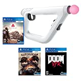 PlayStation VR FPS Starter Bundle (4 Items): PSVR Doom VFR Game, PSVR Bravo Team Game, PSVR Farpoint Game and PSVR Aim Controller