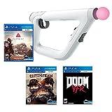 PlayStation VR FPS Starter Bundle (4 Items): PSVR Doom VFR Game, PSVR Bravo Team Game, PSVR Farpoint Game and PSVR Aim Controller
