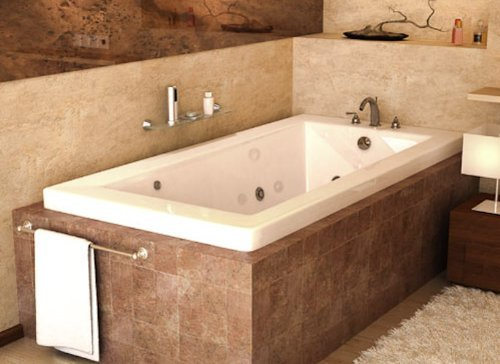 Atlantis Tubs 4272VNCDR Venetian 42 x 72 x 23 - Inch Rectangular Air & Whirlpool Jetted Bathtub w/ Right Side Pump Placement from Spa World