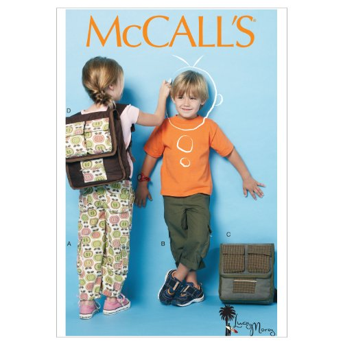McCall's Patterns M6502 Children's/Boys'/Girls' Pants and Backpacks, Size CL (6-7-8)
