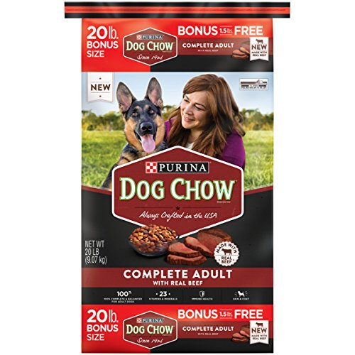 20 Lb Dog Foods (Purina Dog Chow Complete Made with Real Beef Adult Dry Dog Food, 20 lb)