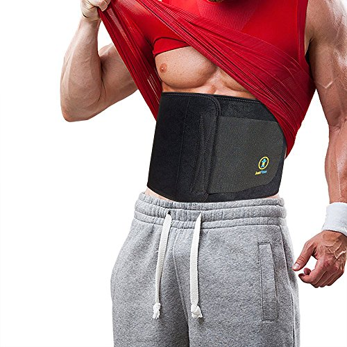 Just Fitter Adjustable Waist Trainer and Trimmer Belt for Men and Women, Medium: (44-Inch-by-9-Inch), Black