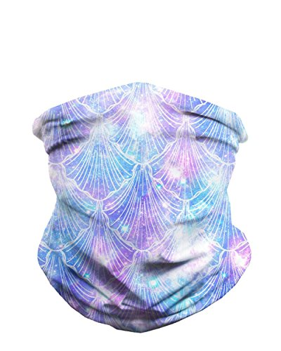 (iHeartRaves Celestial Sea Shells Seamless Mask Bandana)