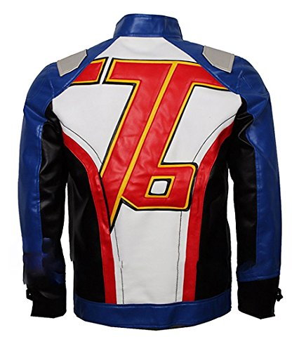 TLCFashion Overwatch Soldier 76 Costume Leather Jacket -
