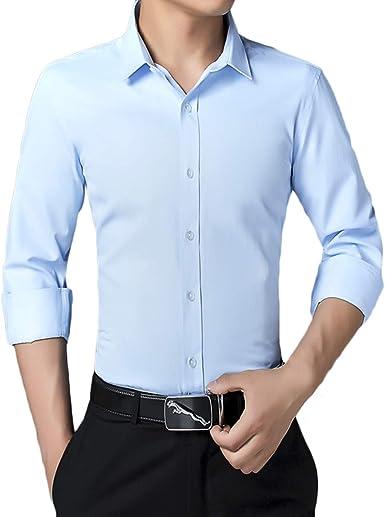 Pishon Camisa de Vestir para Hombre, Estilo Informal, francés ...