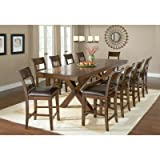 11-Piece Counter Height Dining Set For Sale