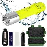 Reiled Diving Flashlight, Bright LED Submarine