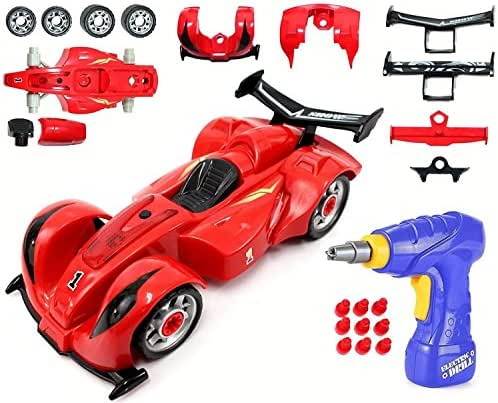 Liberty Imports Kids Take Apart Toys - Build Your Own Formula Race Car Toy Vehicle Construction Playset - Realistic Sounds and Lights with Tools and Power Drill (Formula)