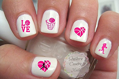 Amazon sports softball nail art designs decals beauty love girl basketball nail art decals prinsesfo Choice Image
