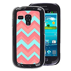 A-type Arte & diseño plástico duro Fundas Cover Cubre Hard Case Cover para Samsung Galaxy S3 MINI 8190 (NOT S3) (Peach Teal Pink Pattern)
