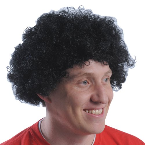(DollarItemDirect Black Team Spirit Afro Wig , Sold by 20 Pieces)