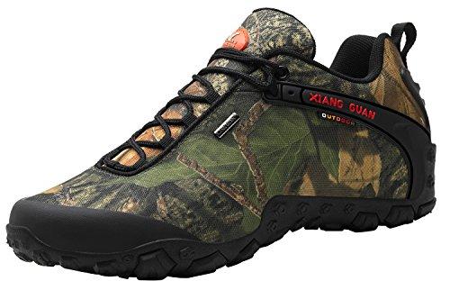 Xiang Guan Uomo Outdoor High-top Camouflage Resistente Allacqua Trekking Scarpe Da Trekking Nero Basso