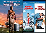 Adam Sandler Billy Madison Happy Gilmore DVD + The Waterboy Comedy Triple Feature Bundle Movie Collection Set