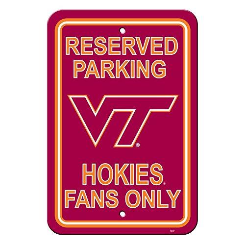 (NCAA Official National Collegiate Athletic Association Fan Shop Authentic Parking Sign (Virginia Tech Hokies))