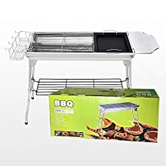 ● Suitable for camping, backpacking, picnics, backboard parties, camping, trailers, parks and small space barbecues. Ideal for burgers, fish, steaks, hot dogs, corn, etc.● Foldable into small size for easy storage and carrying, compact and li...