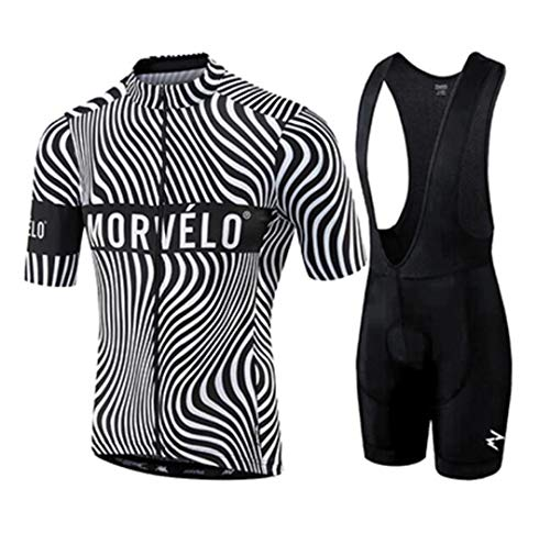 YS-Shorens Morvelo Cycling Set Bike Jersey Sets Cycling Suit Bicycle Clothing MTB Kit Sportswear as picture14 S from YS-Shorens