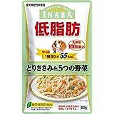 (まとめ買い)いなばペットフード 低脂肪 とりささみ&5つの野菜 乳酸菌入り 80g RD-53 犬用 【×24】