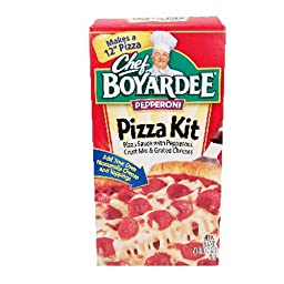 Chef Boyardee Pep Pizza Kit - 6 Unit Pack