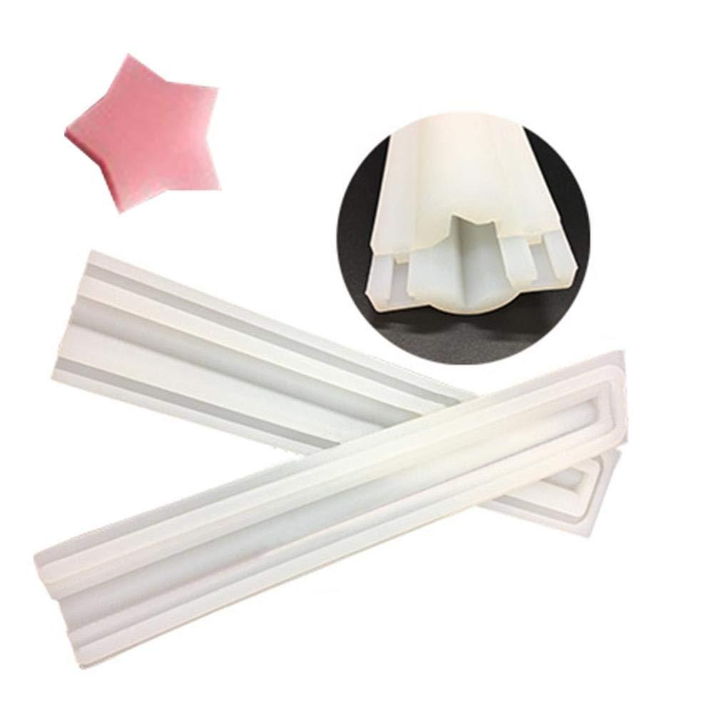 Couleur al/éatoire Lembeauty DIY Faite /à la Main en Forme de Tube de Savon en Silicone Moule /à Cristal Colle Moule /à Bougie