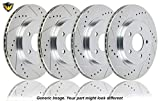 #3: Duralo Drilled Slotted Front Rear Brake Rotor Kit For Mazda CX-5 2013 2014 2015 - Duralo 152-4443 New