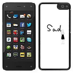 Dragon Case - FOR Amazon Fire Phone - Don't forget them - Caja protectora de pl??stico duro de la cubierta Dise?¡Ào Slim Fit