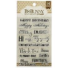 Bo Bunny Stamps 4-Inchx6-Inch-Sentiments